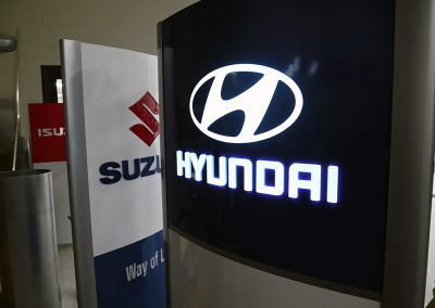 Hyundai mainospylväs